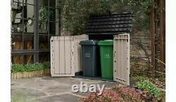 Keter Pro Store 4x5 Ft Outdoor Garden Storage Shed Garage Backyard Bikes