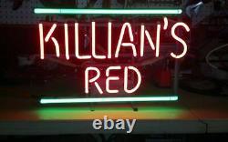 Killian's Irish Red Neon Lamp Sign 14x10 Bar Lighting Garage Cave Store Glass