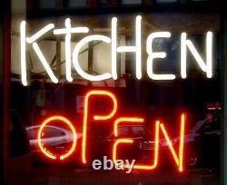 Kitchen Open Neon Lamp Sign 14x10 Bar Lighting Garage Cave Store Pub Artwork