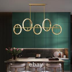 Laiton Moderne Anneau Lustre Bar Café Boutique Luxury Light Pendentif Plafond Lampe