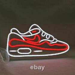 Led Chaussures Neon Lumière Enseigne Sneaker Affichage De Tableau D'éclairage Pour Le Magasin Décoration À La Maison