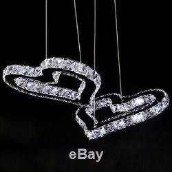 Led Moderne Coeur Cristal Chambre Lustre En Cristal D'éclairage De La Lampe Store Fixtures