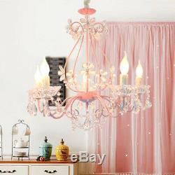 Led Rose Lustre En Cristal Lampe De Plafond Chambre Enfant Magasin Pendnat Luminaires