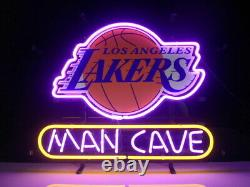 Los Angeles Lakers Neon Lamp Sign 14x10 Bar Lighting Garage Cave Store Artwork
