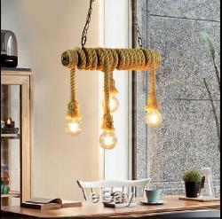 Lustre Pendent Vintage Restaurant Brown Lumières De Conduite D'eau Fixture Lampe Magasin