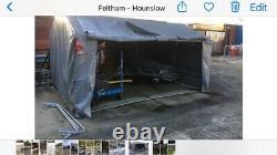 Magasin De Jardin Portatif Lourd. Garage Pour Scooter De Mobilité, Vélos, Tondeuse, Foin