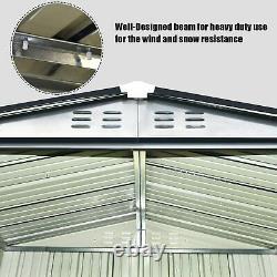 Metal Garden Shed 6x4 3x5 Ft Yard Store Tools Box Storage House Garage Avec Serrure
