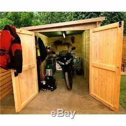 Moto Magasin Garage Extérieur En Bois De Moto Hangar D'entreposage Vélo Atelier Porte