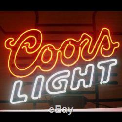 New Coors Light Bar Néon 17x12 Bière Lampes En Verre Magasin Garage Affichage