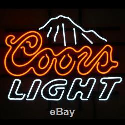 New Coors Light Montagne Néon 17x14 Bière Lampes En Verre Magasin Garage Affichage