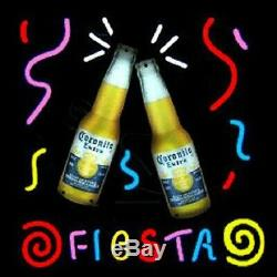 New Corona Extra Fiesta Néon 17x17 Verre À Bière Lampes Magasin Garage Affichage