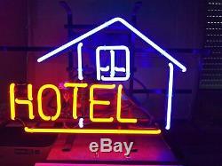 New Hôtel Lodge Motel Néon 17x14 En Verre De Bière Light Store Garage Affichage