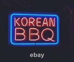 New Korean Bbq Store Neon Lamp Sign 20x16 Light Glass Garage Bar Pub Shop