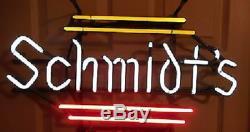 New Lampes Bar Schmidt Néon 17x12 Verre De Bière Light Store Garage Affichage