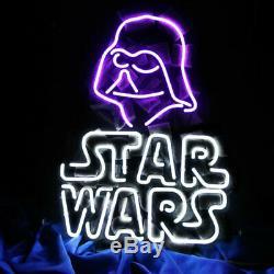 New Star Wars Darth Vader Bar Neon Sign 17x14 Verre Light Store Garage Affichage