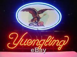New Yuengling Lager Lampe Néon 17x14 En Verre De Bière Light Store Garage Affichage