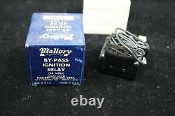 Nos Mallory By-pass Ignition Relay 1960-61 12 Volt Distributeur De Hot Rod Vintage