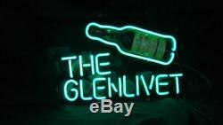 Nouveau The Glenlivet Whisky Néon 17x14 Verre De Bière Light Store Garage Affichage