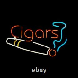 Nouvelles Cigarettes Tabagisme Neon Enseigne Lampe 20x16 Verre Léger Garage Bar Pub Store B