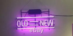 Old=new Neon Lamp Sign 14x8 Bar Lighting Garage Cave Bar Artwork Store Décor
