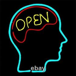 Open Mind Brain Store Neon Lamp Sign 14x10 Bar Lighting Garage Bar Artwork C