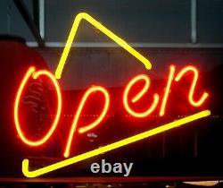 Open Store Business Neon Lamp Sign 14x10 Bar Lighting Garage Cave Artwork