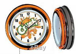 Orange Crush Soda 19 Orange Neon Clock Man Cave Bar Garage Pop Boutique Boutique