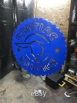 Pontiac Pontiac Signer Service Auto Steel Magasin Garage Unpainted Saw Cave Man