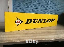Publicité Display Dunlop Vintage Sign Magasin Tire Metal Shop Garage Man Cave