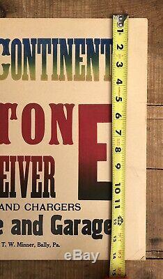 Rare Valley Vintage Tone Radio Récepteur Magasin Garage Dealer Afficher Connexion