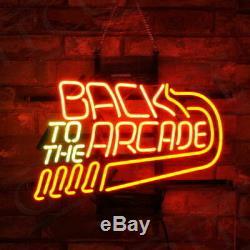 Retour À L'arcade En Verre Neon Sign Lumière Beer Store Bar Garage Party Pub 17x14