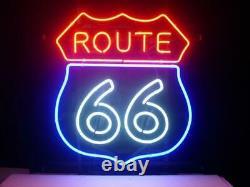 Route 66 Lampe Au Néon Enseigne 14x10 Bar Garage Cave Bar Éclairage Création