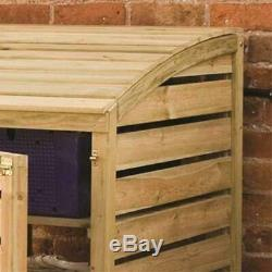 Rowlinson Timber Recycling Box Magasin Container Jardin Stockage Shelved