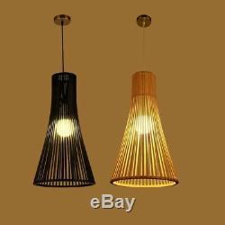 Salon Magasin De Vêtements Lustre Lampe Led Bamboo Café Lampes Suspendus