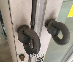 Serrure De Sécurité De Sécurité De Magasin De Stockage Entrepôt Porte De Garage Serrure + Anneaux