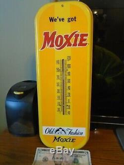 Soda Vintage Moxie Thermomètre À Gaz Huile Garage Connexion Pays Machine Magasin