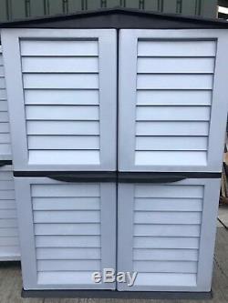 Starplast Haut Magasin En Plastique Remise De Jardin Débarras Jardin Garage Noir Et Argent