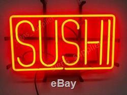Sushi Magasin Ouvrir Lampe Néon 14x7 Bar Éclairage Garage Cave Oeuvre D'art Décor