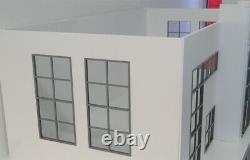 Très Grand Diorama Modèle Kit À L'échelle 118 Showroom Car Store Auto Garage Nouveau