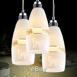Trois Têtes De Verre Led Lumières Lustre Magasin De Vêtements Restaurant Pendent Lamp