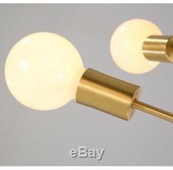 Verre Restaurant Light Chandelier D'or Magasin Pendent Lampe D'éclairage Led Chambre