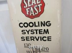 Vieille Advertising Bowes Seal Fast Tin Store Shop Thermomètre Garage A-661
