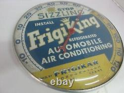 Vieille Publicité Frigiking Auto Ronde Pam Thermomètre Garage Store 227-p