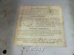 Vieux Casite De Publicité Thermomètre Rond Garage Store M-525