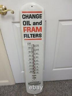 Vintage Advertising Fram Filtres Thermomètre Garage Store Auto Petroliana A-271