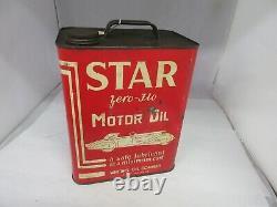 Vintage Advertising Star Motor Oil 2 Gallon Can Tin Garage Store 480-q