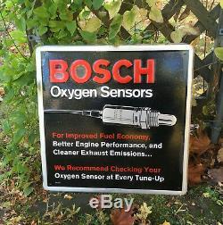 Vintage Bosch Oxygène Capteurs Métal Embossé Tacker Garage Pièces Enseigne