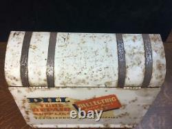 Vintage DILL Tube Repair Supplies Cabinet Garage Store Counter Display Storage
