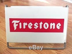 Vintage Firestone Tire Connexion Station Garage Camion Agricole Tracteur Afficher Magasin