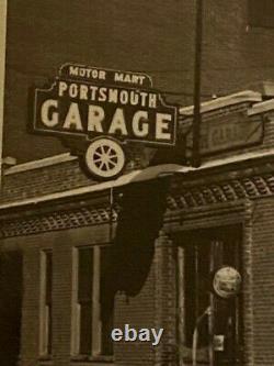 Vintage Lot Photos Nouvelle Angleterre Nh Portmouth Market Square Garage Drug Store Etc